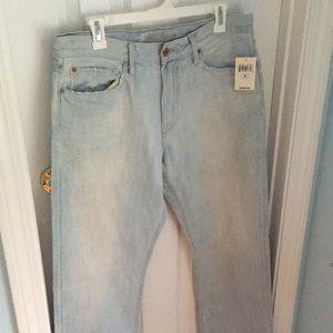 Mens Light Wash Jeans